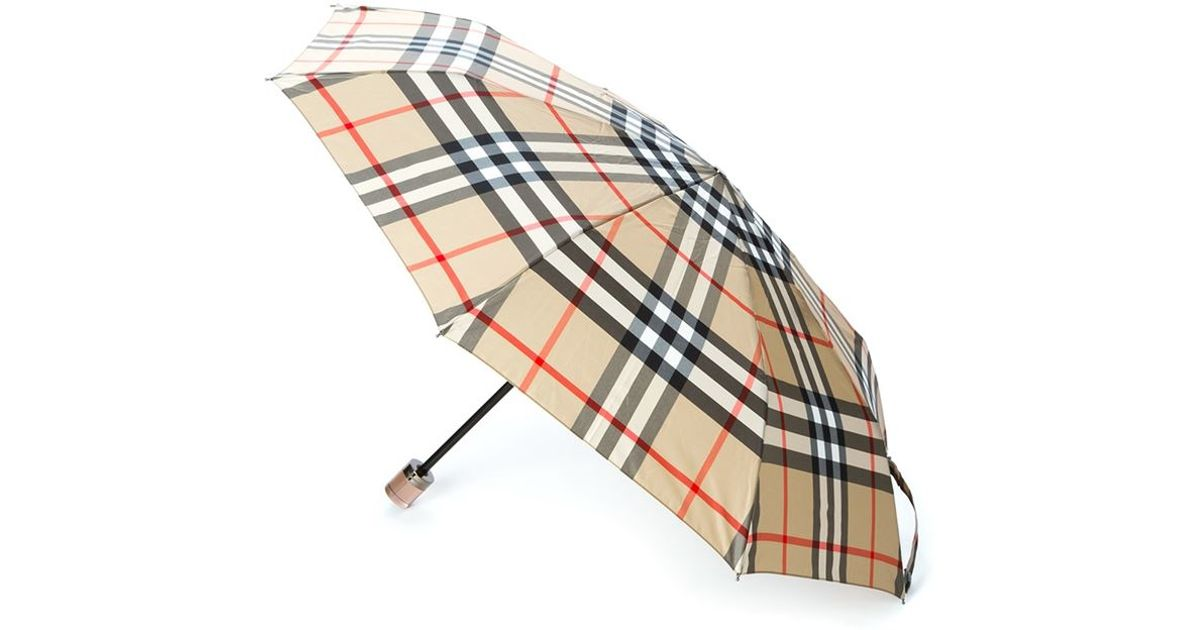 06cf1bea9b4 Burberry  trafalgar  Umbrella in Natural - Lyst