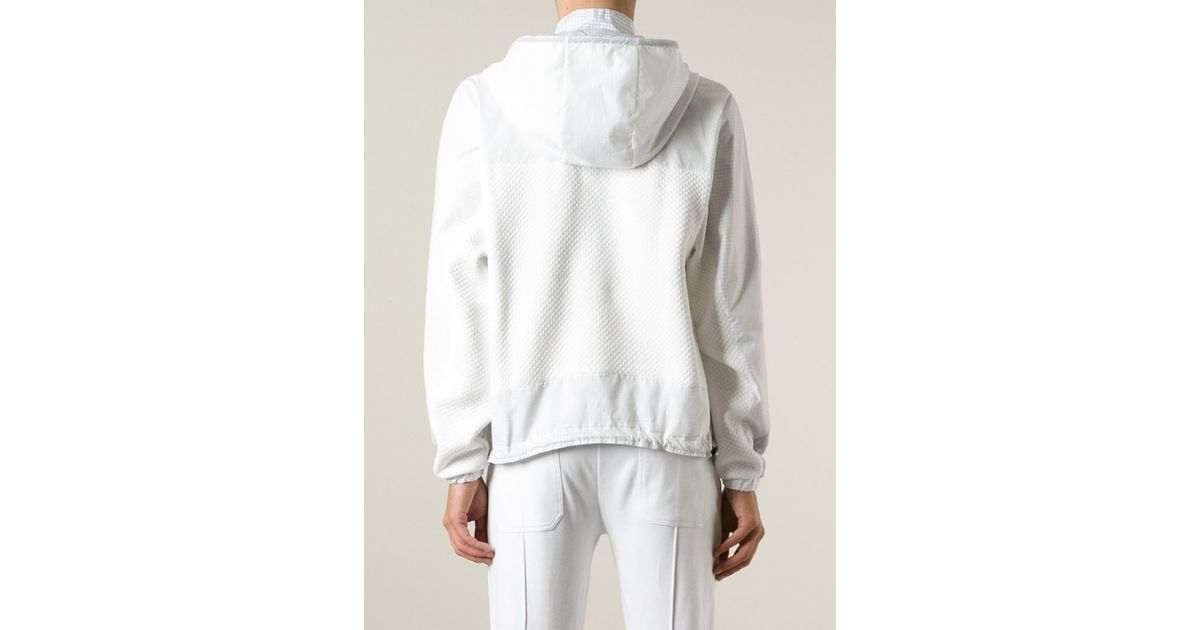Nasir mazhar Pullover Windbreaker in White for Men | Lyst
