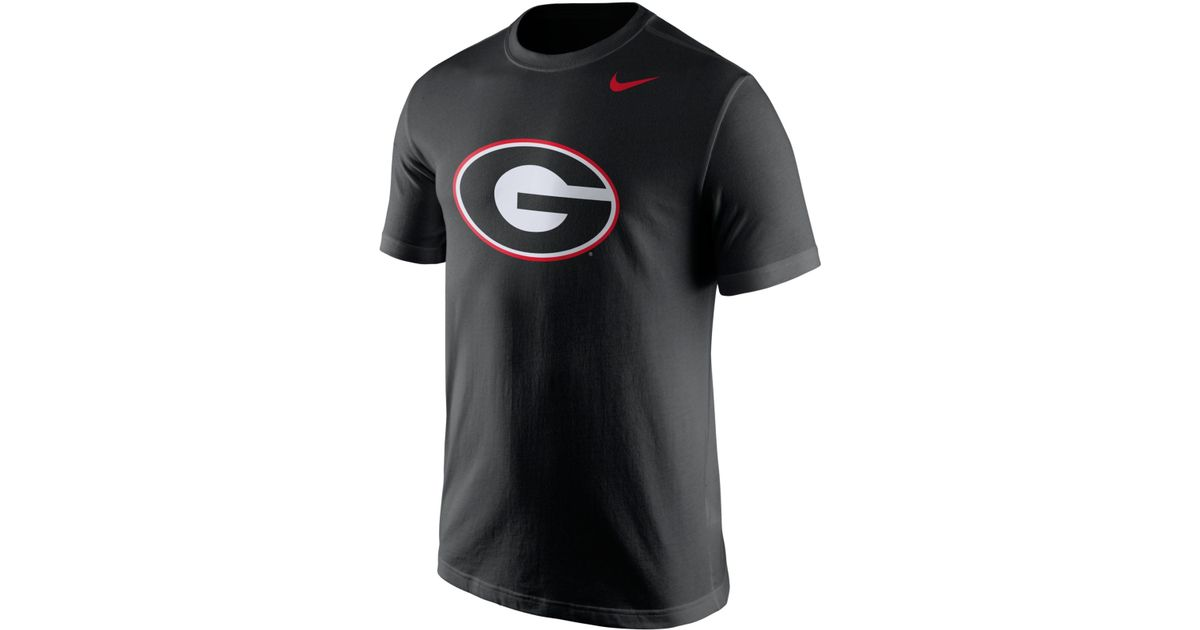 Lyst Nike Men 39 S Georgia Bulldogs Logo T Shirt In Black