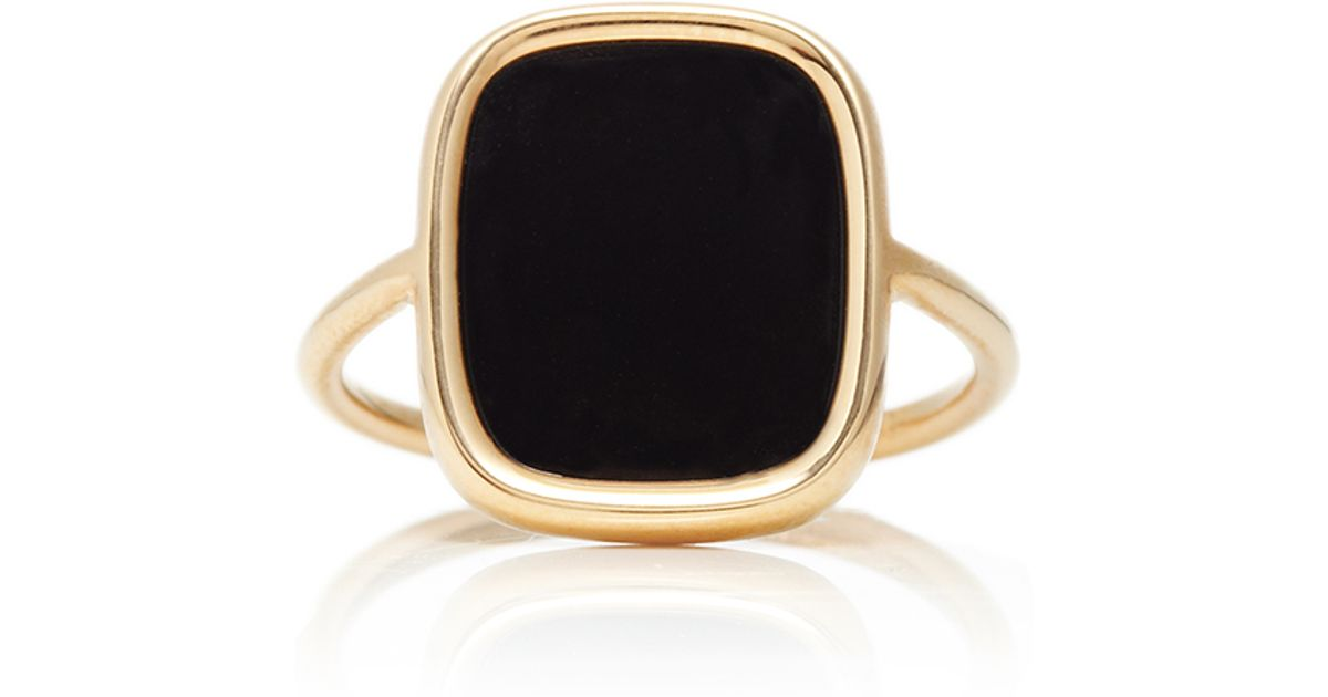 Antique Victorian 14k Rose Gold Onyx Ring Vine Late 1800s S