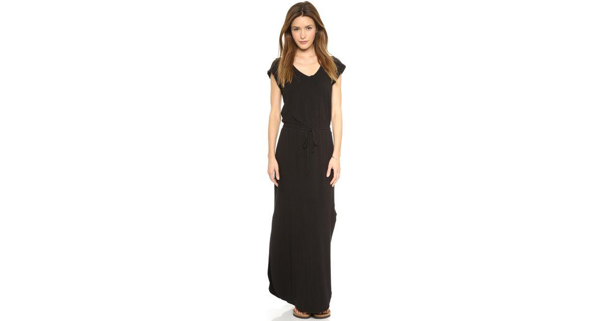 Splendid u neck maxi dress jean