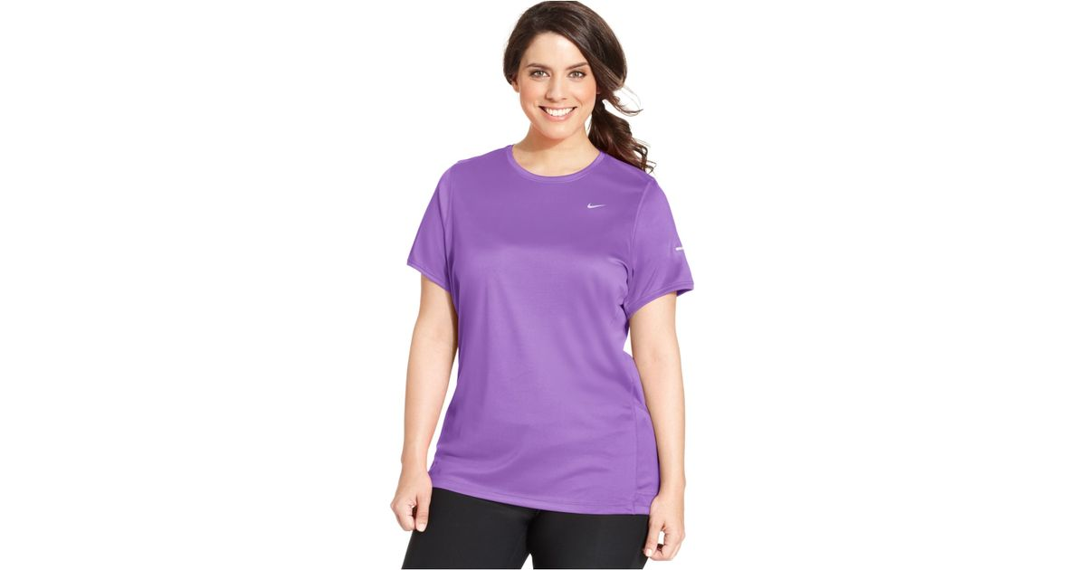 Nike Plus Size Dri Fit T Shirt In Purple Lyst