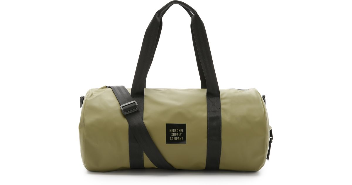 4bf252ecc1ad Lyst - Herschel Supply Co. Studio Sutton Tarpaulin Duffel Bag in Green for  Men