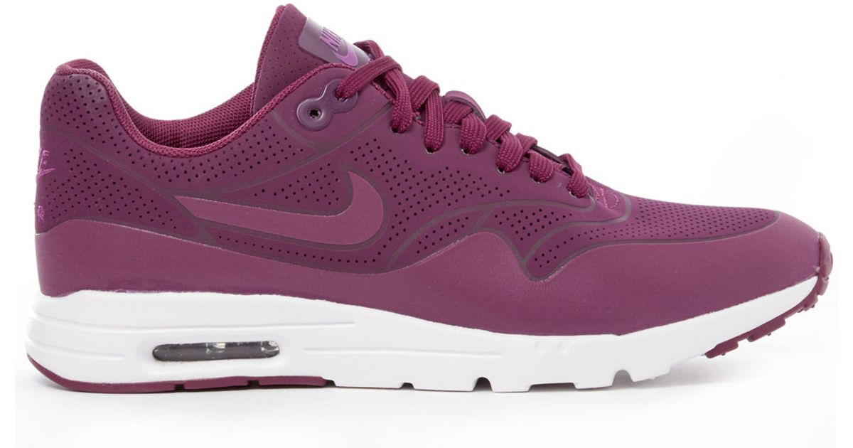 ce4f3826e244 7dde4 be6d8  sale lyst nike raspberry air max 1 ultra moire trainers in  purple 05932 5e127