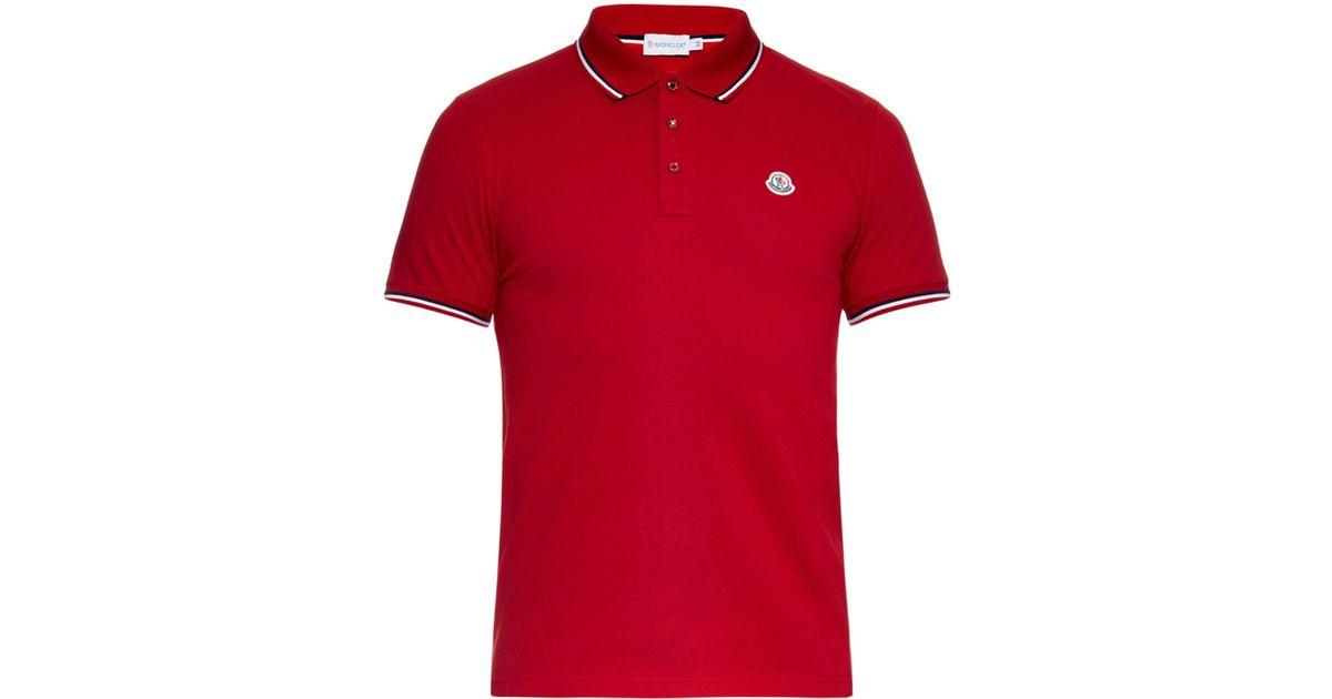 red moncler t shirt