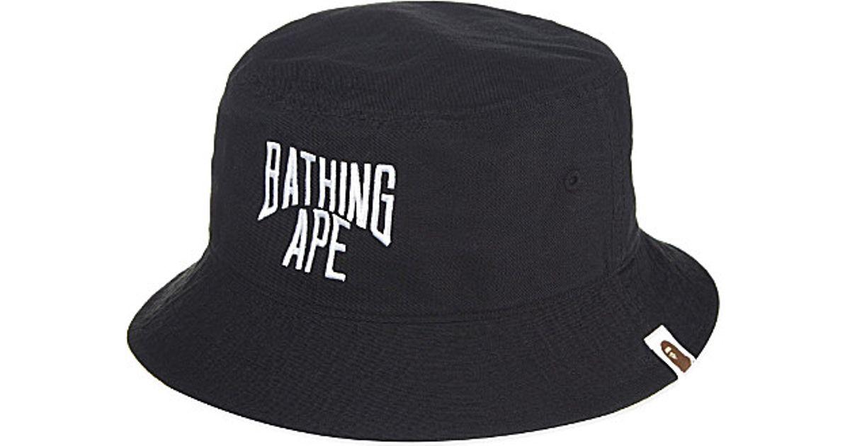 A Bathing Ape Nyc Logo Bucket Hat - For Men in Black for Men - Lyst dd60737b027