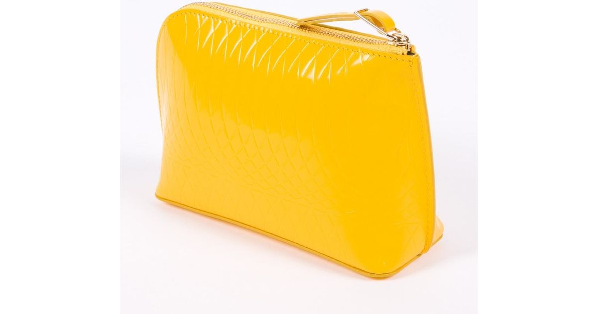 401e1cd510 Lyst - Paul Smith No.9 Women s Yellow Patent Leather Make-up Bag in Yellow