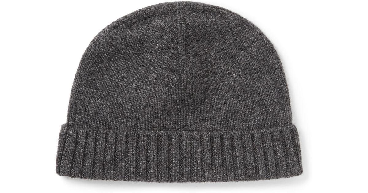 Lyst - Polo Ralph Lauren Cashmere and Wool-blend Beanie Hat in Gray for Men 83d820724d2
