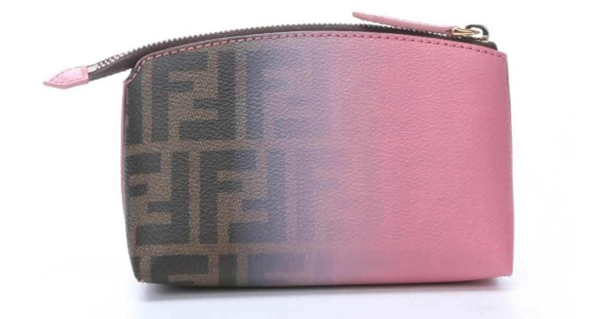 cc6c88aaf2 ... cheapest fendi pink and tobacco ombre degrade canvas cosmetic bag in  pink lyst 5b870 461c1 italy fendi brown pink zucca ...