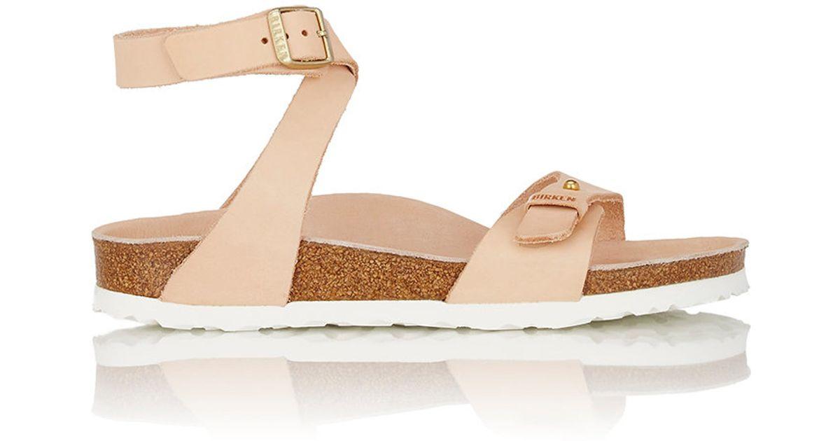 9f5d4c9a9cd Birkenstock Delhi Leather Sandals in Natural - Lyst