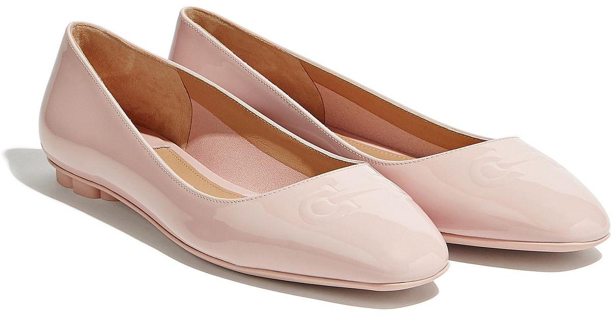 f2d04c272d2 Lyst - Ferragamo Gancini Ballet Flat in Pink