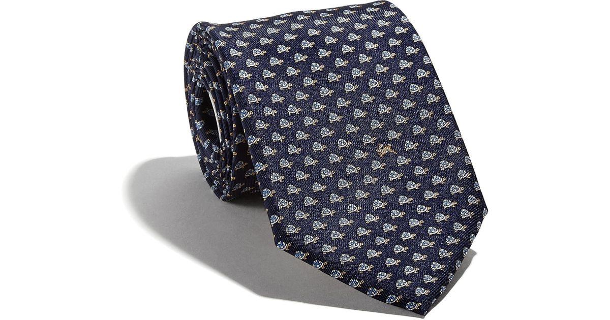 a96b6e2ffb47 Lyst - Ferragamo Tortoise-print Tie in Blue for Men