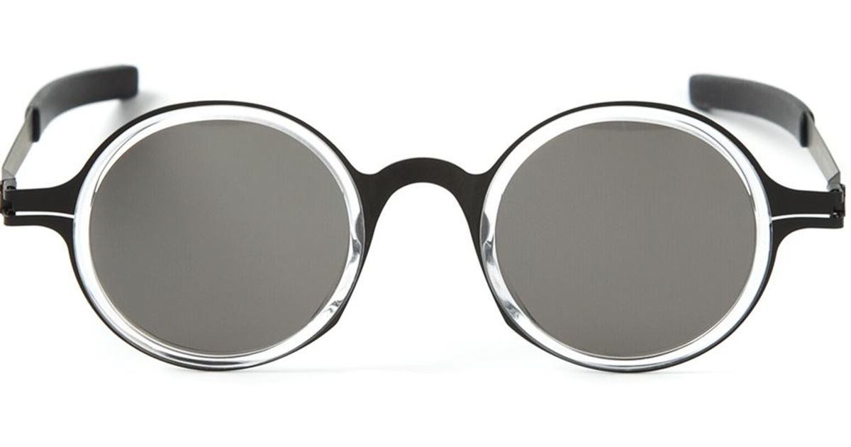 Mykita Round Sunglasses  mykita damir doma round sunglasses in black for men lyst