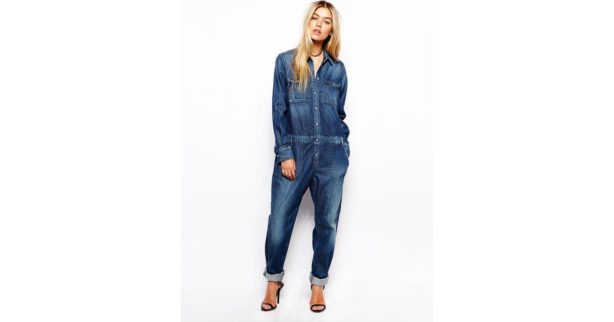 e2f0578b92b Lyst - Pepe Jeans Denim Jumpsuit in Blue