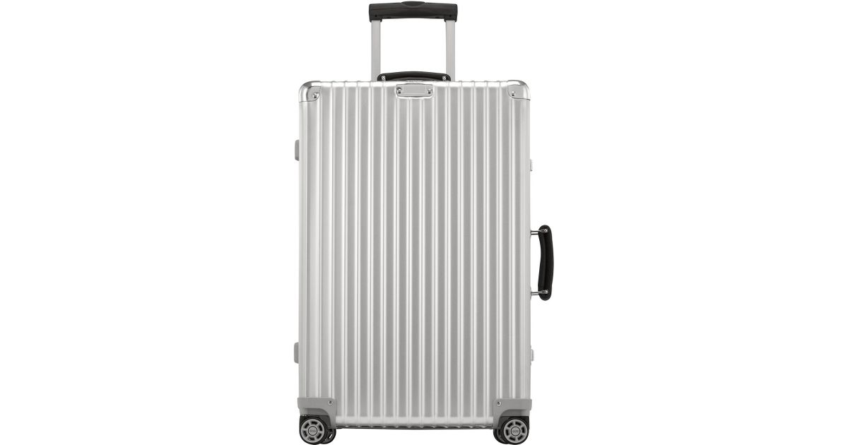 rimowa classic flight 26 multiwheel in metallic for men. Black Bedroom Furniture Sets. Home Design Ideas