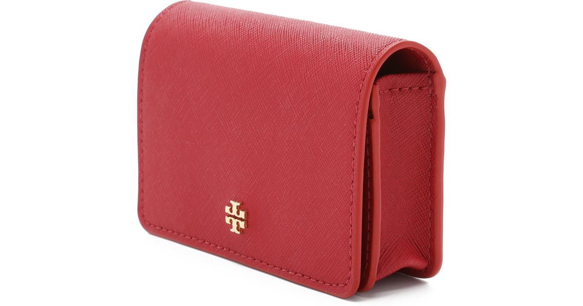 Lyst - Tory Burch York Foldable Card Case - Kir Royale in Red