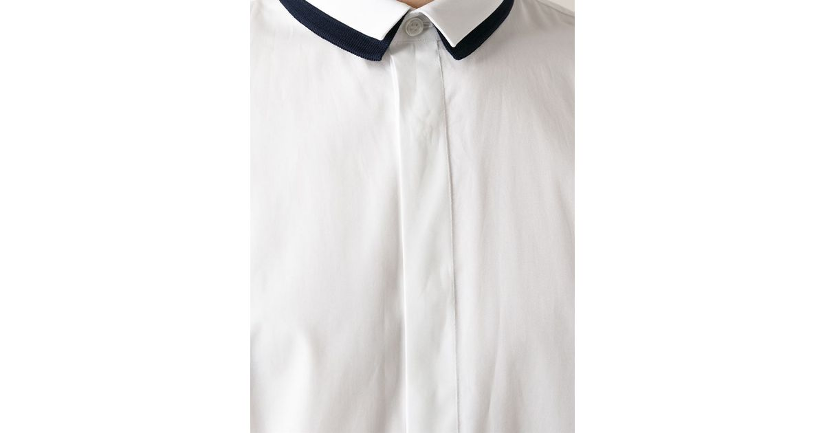4f231d9417c ... lyst dior homme double collar shirt in white for men ...