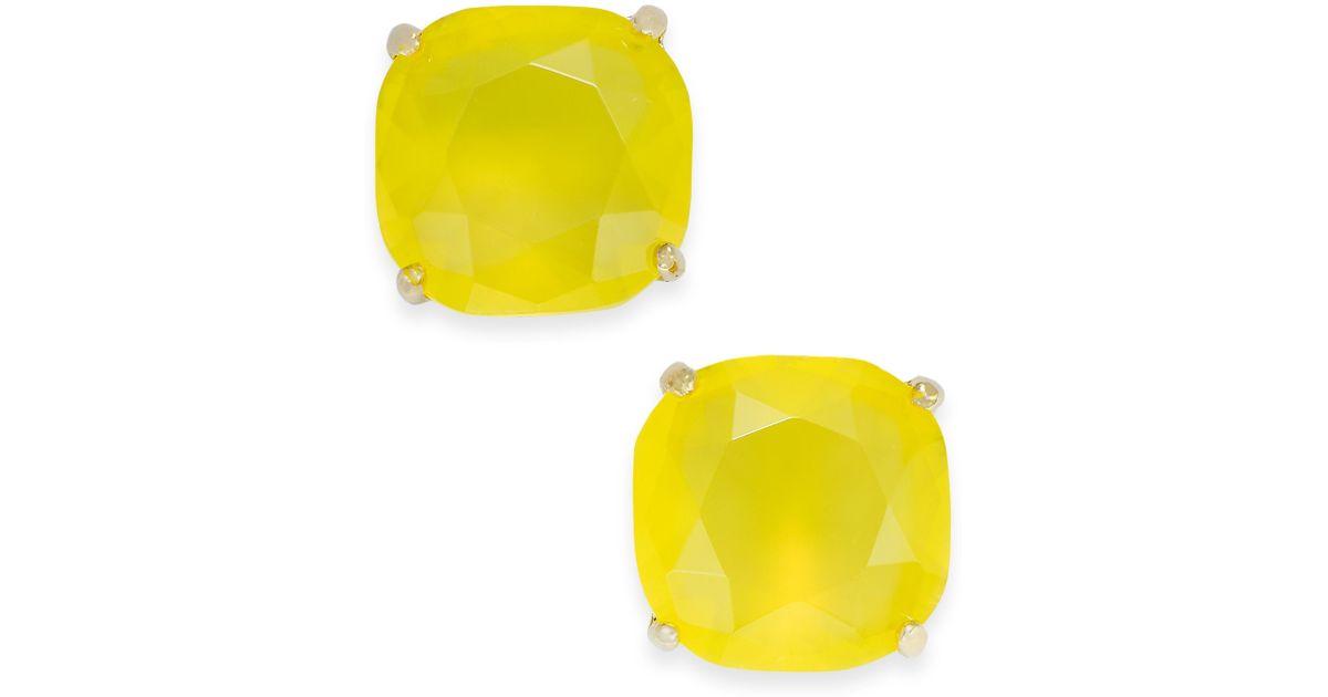 Lyst Kate Spade New York Goldtone Lemon Square Stud Earrings In Yellow