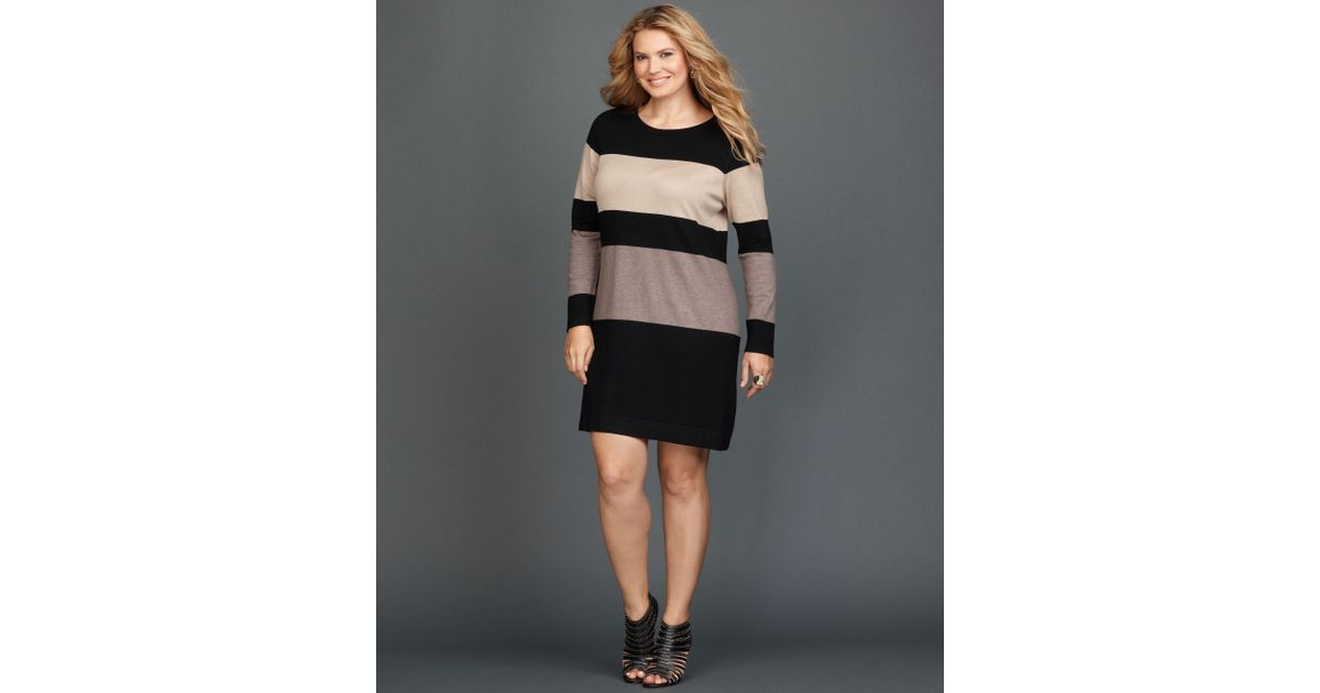 Lyst Inc International Concepts Plus Size Longsleeve Colorblock