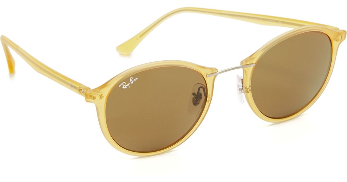 3182edd669 ... usa lyst ray ban tech light ray round sunglasses b698b 8d17e