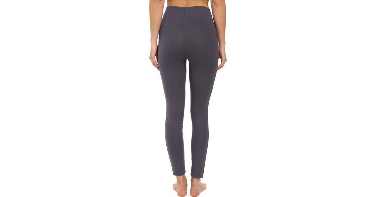 1f4a1f66e8beef Spanx Cut & Sew Cropped Essential Leggings in Gray - Lyst