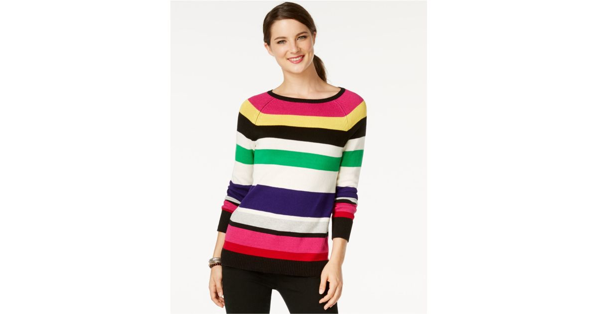 American Living Striped Long Sleeve Sweater Only At Macy