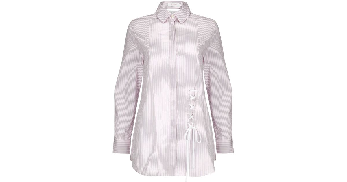 Grainger White Cotton Lace Detail Shirt Finery Free Shipping Supply Clearance From China Wr0qEtYZ