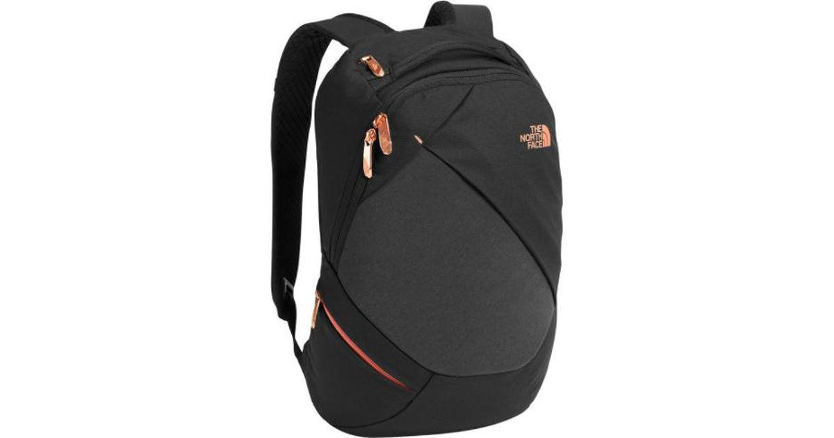 d1ccf11be63 The North Face Women Electra Backpack, Tnf Black Heather/ Burnt Coral  Metallic in Black - Lyst