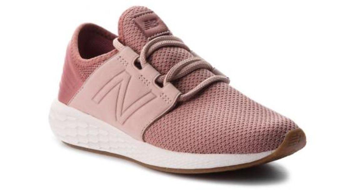 b3faa0049d1 Lyst - New Balance Women Fresh Foam Cruz V2 Nubuck Wcruzna2 Sneakers ...