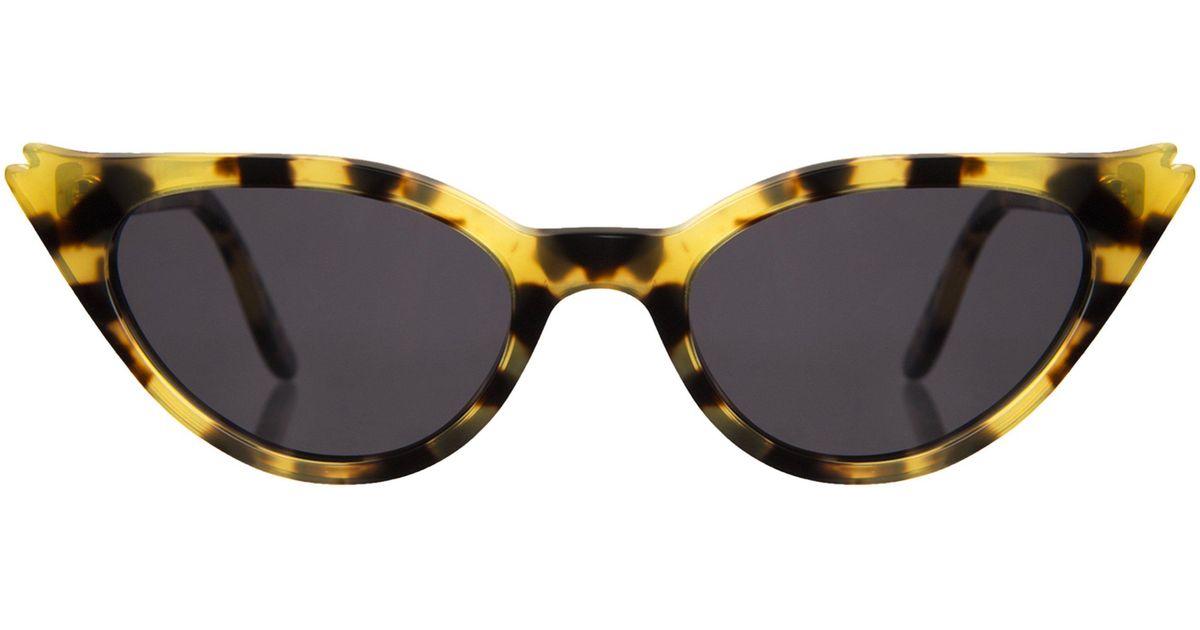 2972fef59d Lyst - Illesteva Isabella Tortoise Sunglasses