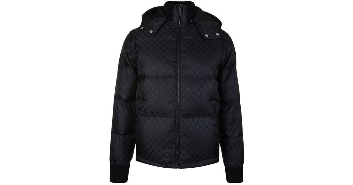 5300741bf Gucci Gg Puffa Coat in Black for Men - Lyst