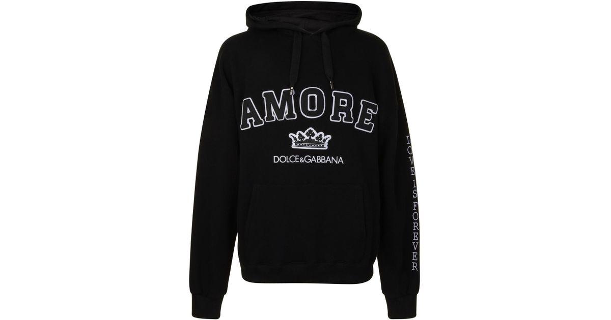 Lyst Gabbana negro hombres en Dolce capucha Amore gran para sudadera con tamaño de UUHwfxqr