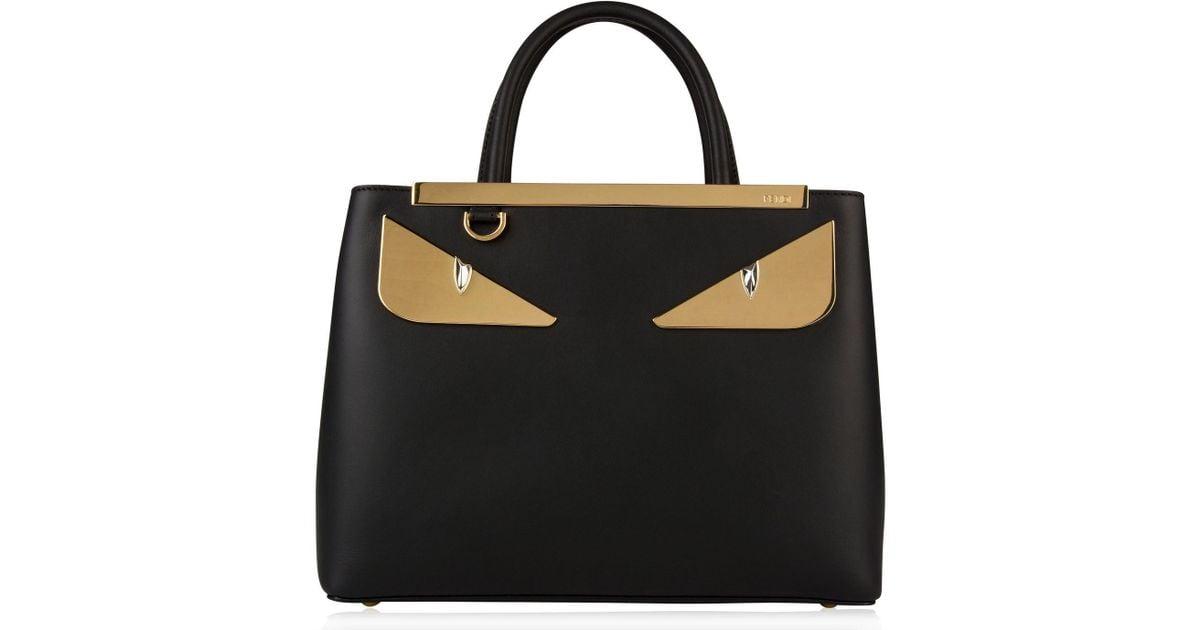 c0cd0b020846 Lyst - Fendi Monster Eyes Shoulder Bag in Black