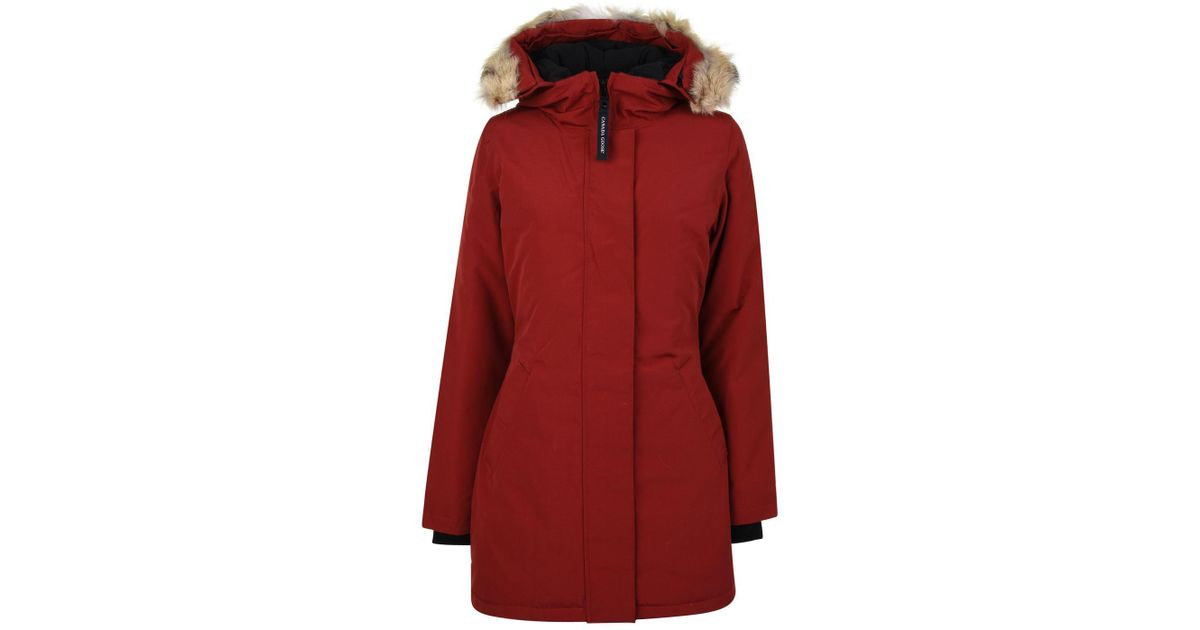 Canada Goose Victoria Parka Jacket in Red - Lyst 0fcbfdec81f6