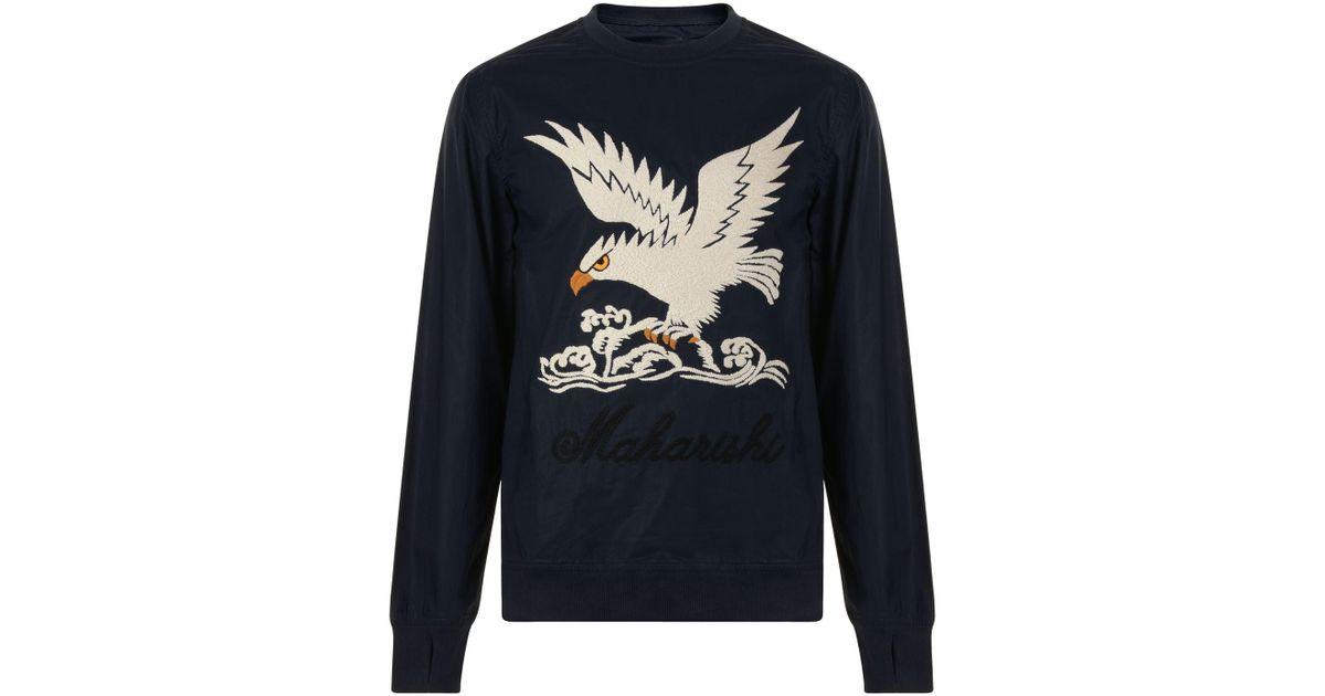 Lyst - Maharishi Eagle Crew Neck Sweatshirt in Blue for Men 158ecd69c
