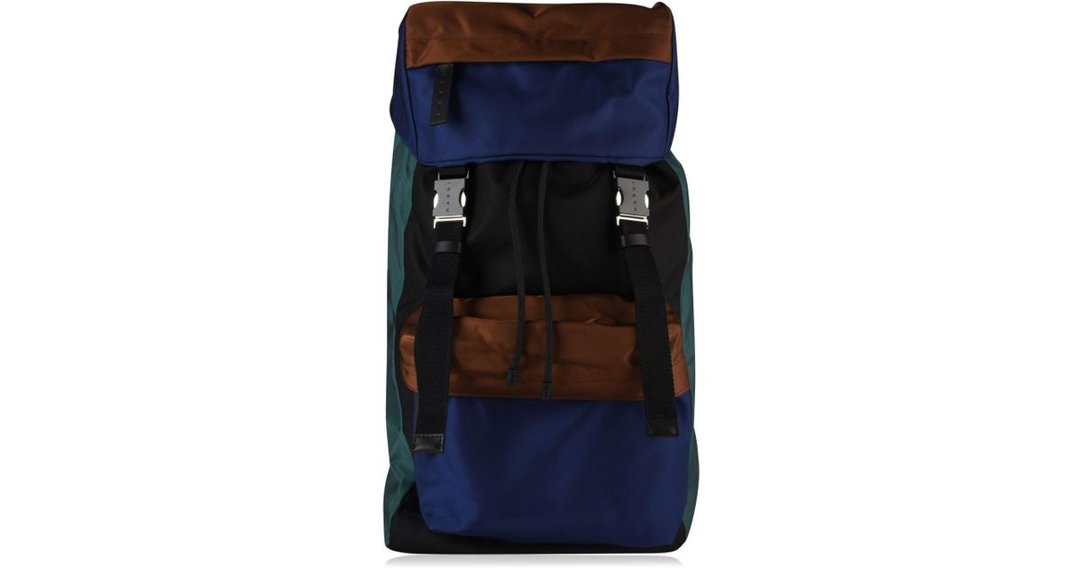 57f83efd81 Lyst - Marni Colour Block Backpack in Blue for Men