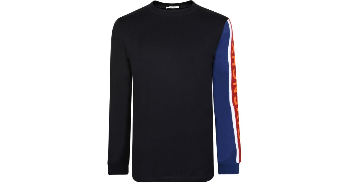 8a1a61d5 Givenchy Towelling Long Sleeved T Shirt in Black for Men - Lyst