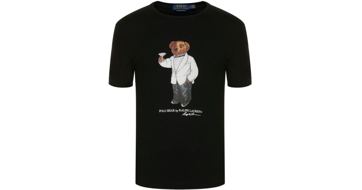 e8382687d Polo Ralph Lauren Martini Bear T Shirt in Black for Men - Lyst