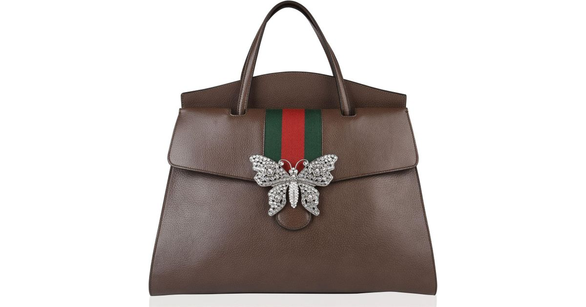 345f0e52036 Lyst - Gucci Totem Butterfly Bag in Brown