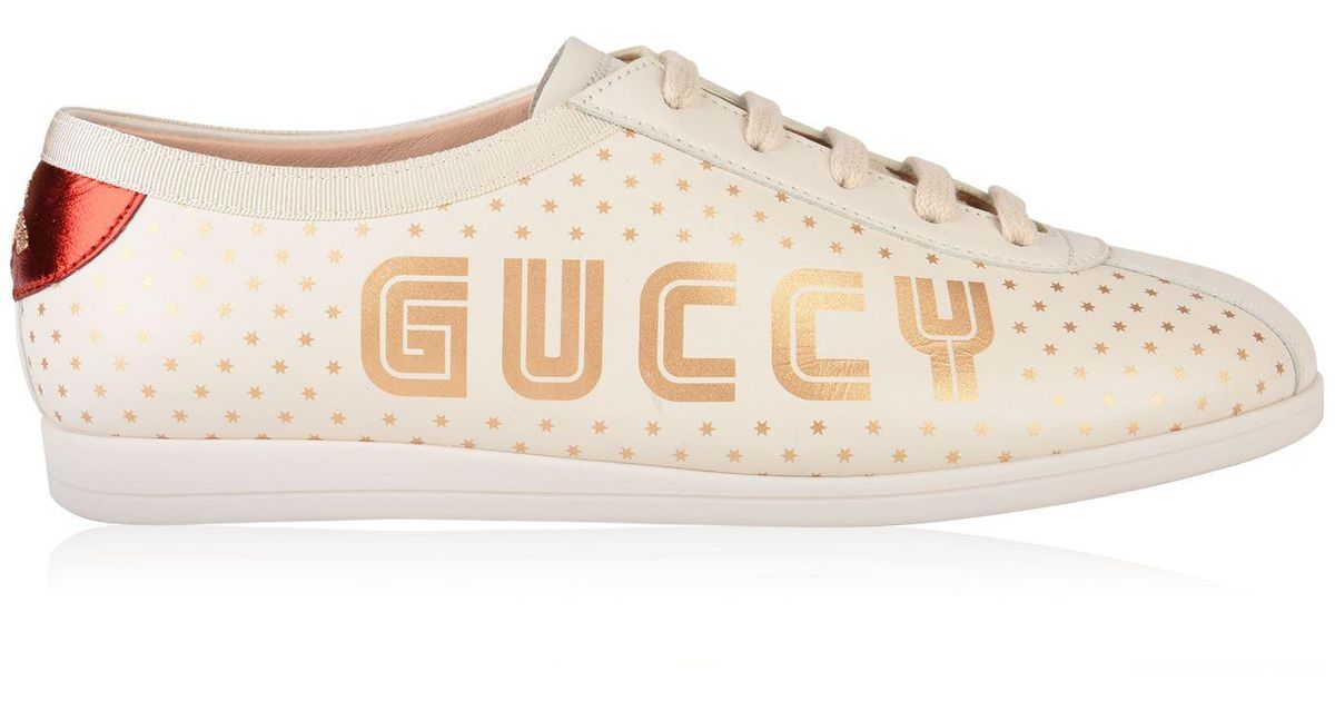 9abbad93f7b Gucci Falacer Guccy Trainers - Lyst