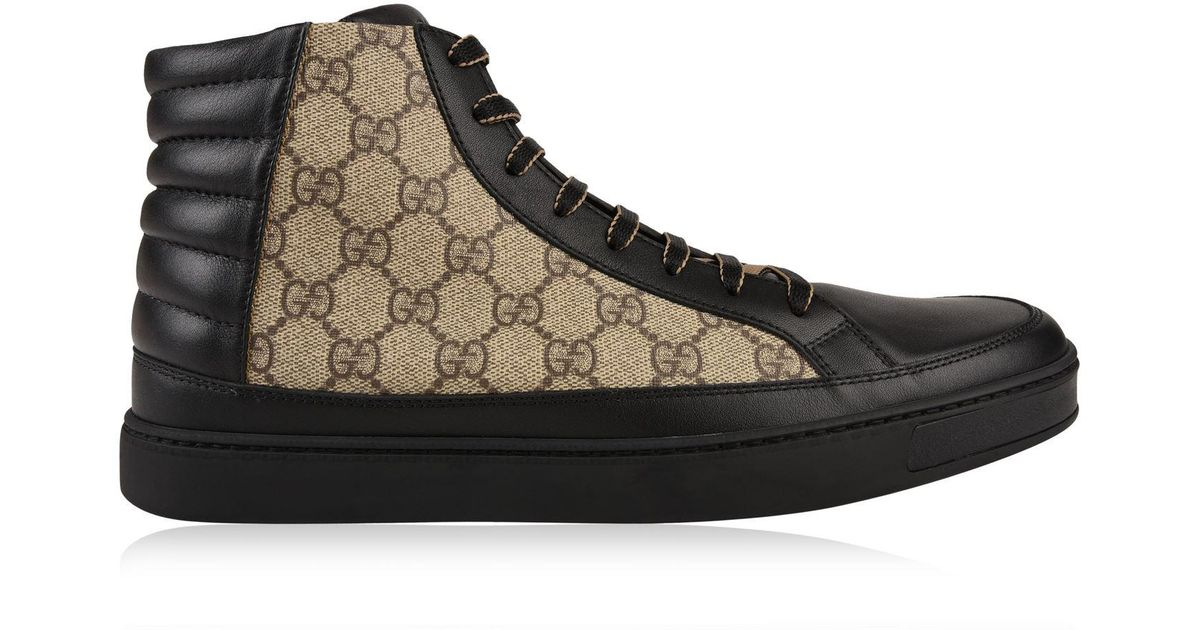 298f498c41b5 Gucci Common High Gg Trainers in Black for Men - Lyst