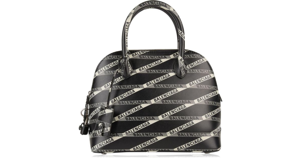696ab589adb Balenciaga Mini Logo Ville Bag in Black - Lyst