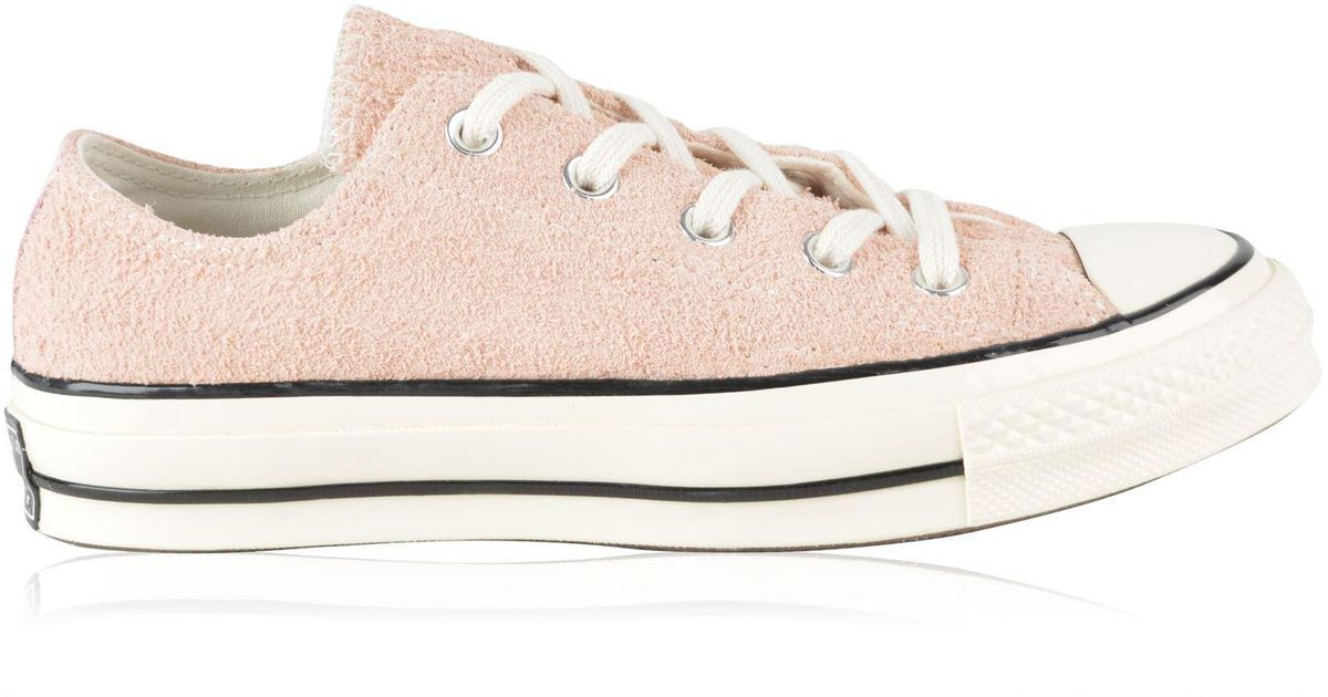 be040c48a6ee Lyst - Converse Chuck Taylor All Star 70 Vintage Suede Ox Trainers in Pink