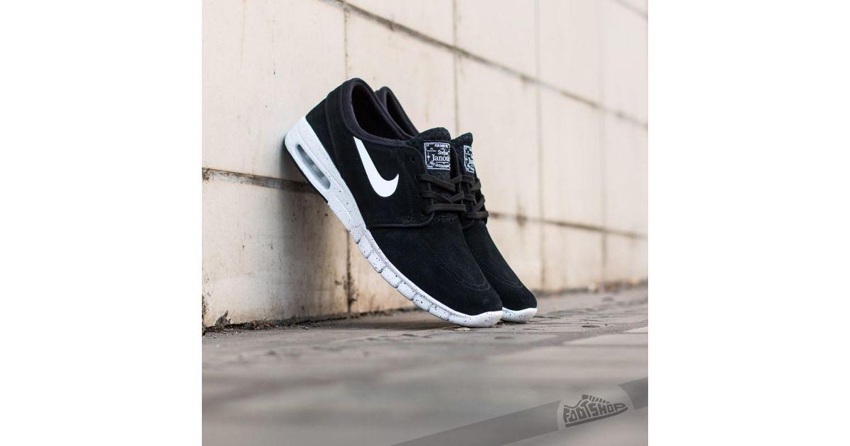 hot sale online 2106e 7c059 Lyst - Nike Stefan Janoski Max L Black white in Black for Men