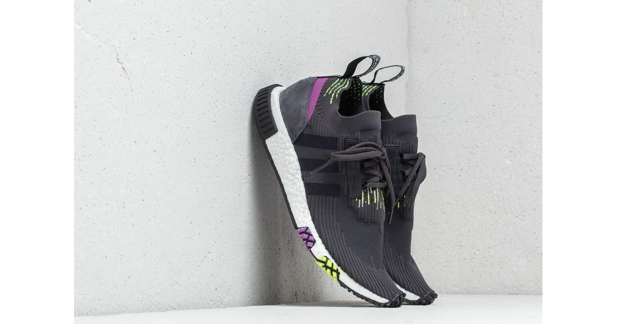 f01fae023 Lyst - adidas Originals Adidas Nmd Racer Primeknit Carbon  Core Black  Solar  Yellow in Blue for Men - Save 60%