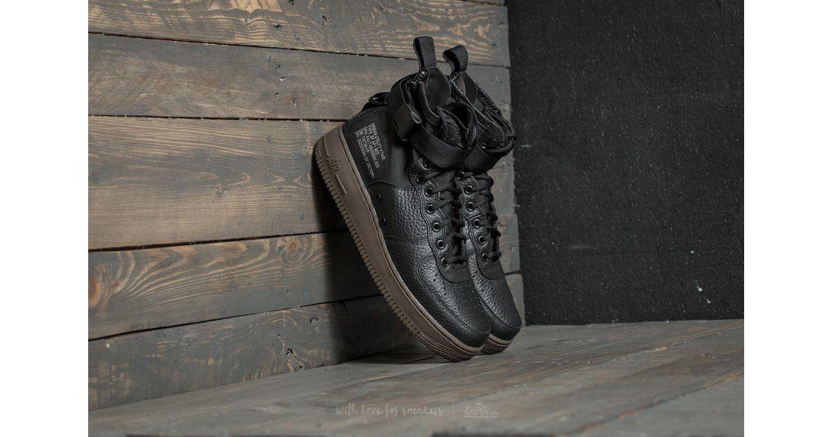 super popular 9211c 6e75f Nike Sf Air Force 1 Mid Black  Black-dark Hazel in Black for Men - Lyst