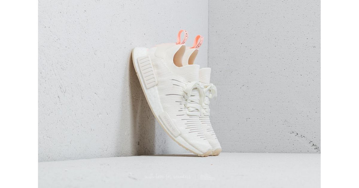 6dfa2f6947579 Lyst - adidas Originals Adidas Nmd r1 Stlt Primeknit W Cloud White  Cloud  White  Clear Orange in White