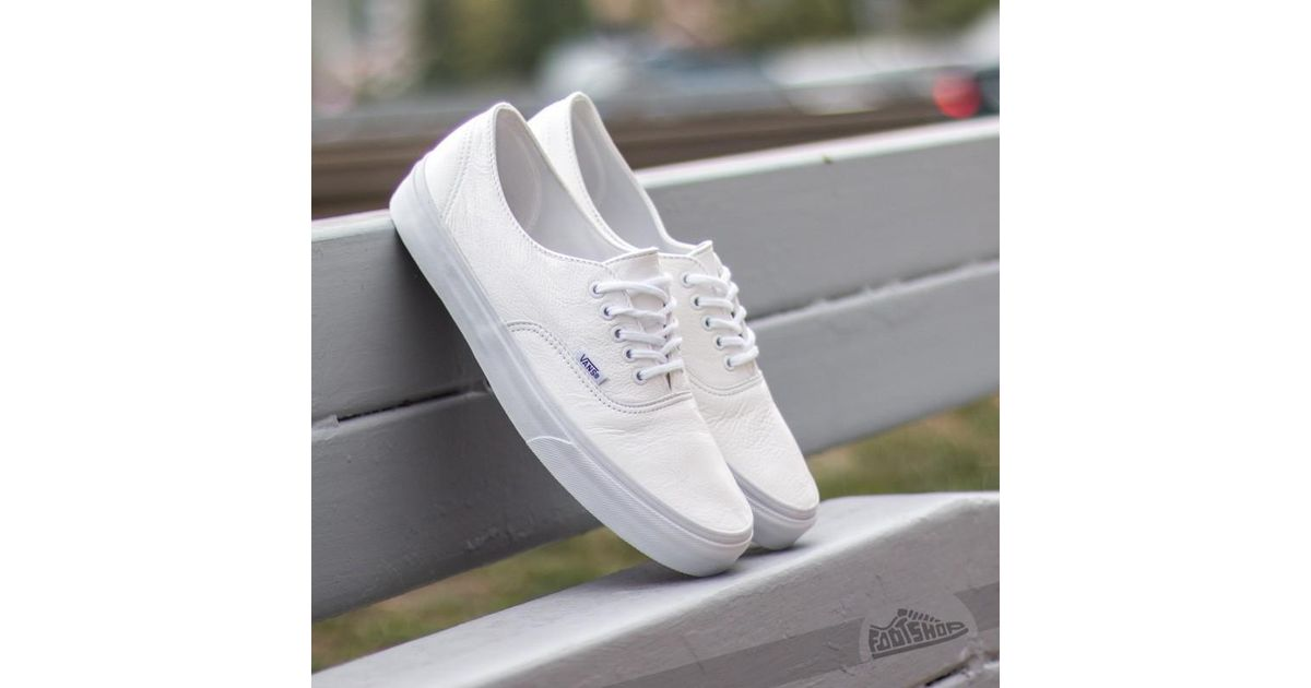 a1510eb2ec2a7a Lyst - Vans Authentic Decon Premium Leather True White in White for Men