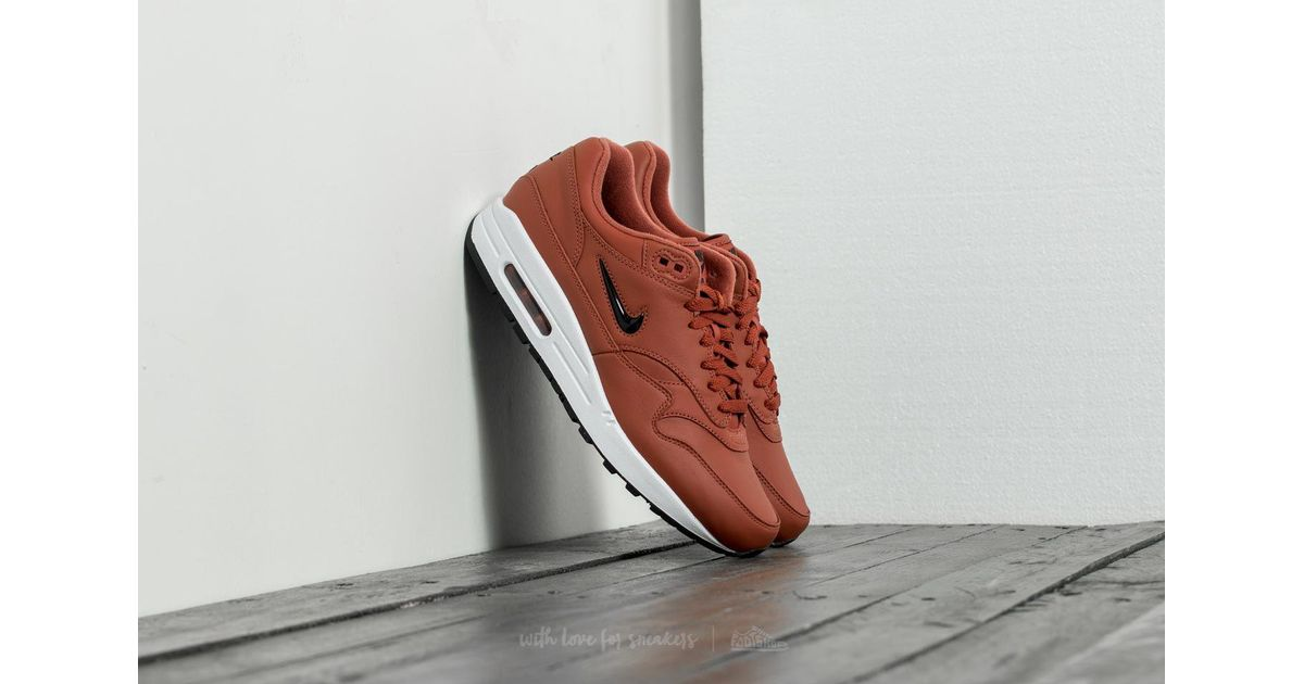 Nike Mens Air Max 1 Premium SC Leather Fashion Sneakers Black 13 Medium (D)
