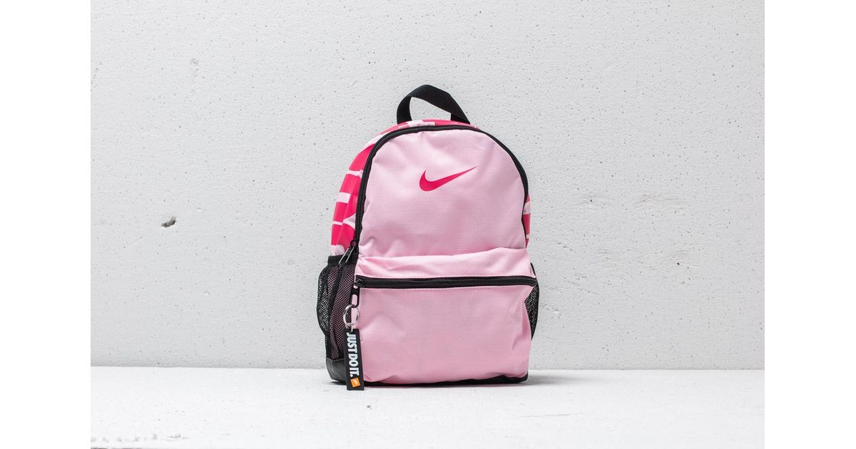 2d48d3c4b6e Lyst - Nike Pink Just Do It Logo Mini Backpack in Pink